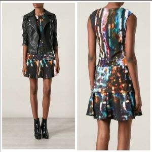 Alexander McQueen Blurry Lights Peplum Dress